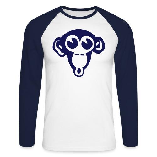 monkey - Mannen baseballshirt lange mouw