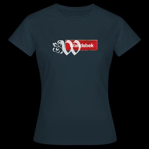 HH-Wandsbek, Vintage-Ortsschild mit Ornament-Initial - Frauen T-Shirt