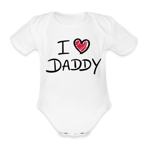 i heart daddy - Organic Short-sleeved Baby Bodysuit