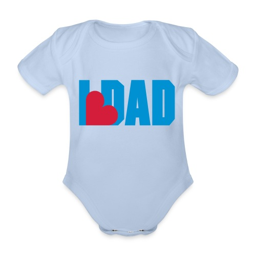 I Heart Dad - Dad - Fathers day Baby Onsie - Body Bébé bio manches courtes