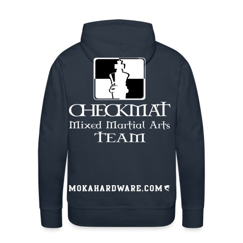 Arte Suave/CheckMat Brazilian Jiu Jitsu Team Blå - Herre Premium hættetrøje