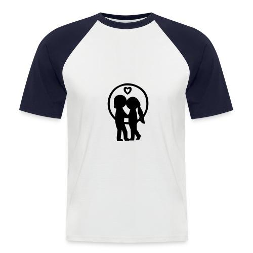 Zakochani - Koszulka bejsbolowa męska