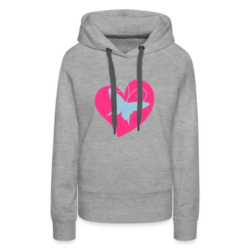 Fluttering Heart - Women's Premium Hoodie