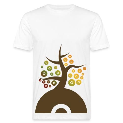 Vinylbaum Herbst - Männer Bio-T-Shirt