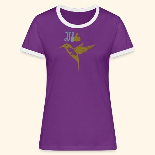 J'aime la Martinique l'île aux fleurs - T-shirt contrasté Femme
