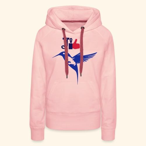 J'aime la Martinique l'île aux fleurs - Sweat-shirt à capuche Premium pour femmes
