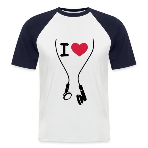 LOVE MUSIC MEN's - Men's Baseball T-Shirt