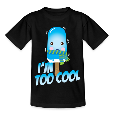 Funny and cute vintage too cool freezing ice cream for cold winter and hot summer t-shirts Kids' Shirts