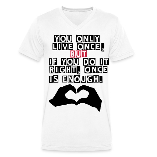 ONCE IS ENOUGH V-NECK - Ekologisk T-shirt med V-ringning herr från Stanley & Stella