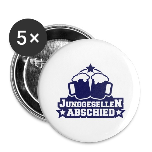 Party Button - Buttons groß 56 mm (5er Pack)