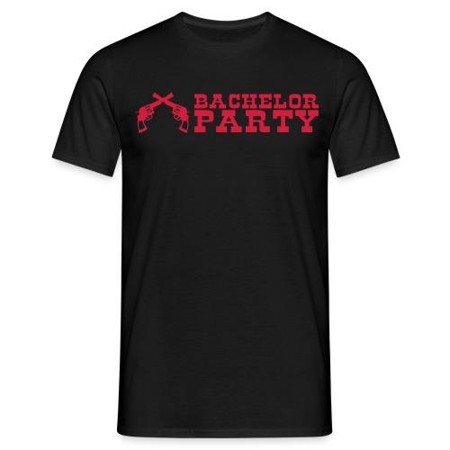bachelor party Cowboy Motiv T-Shirt - Männer T-Shirt
