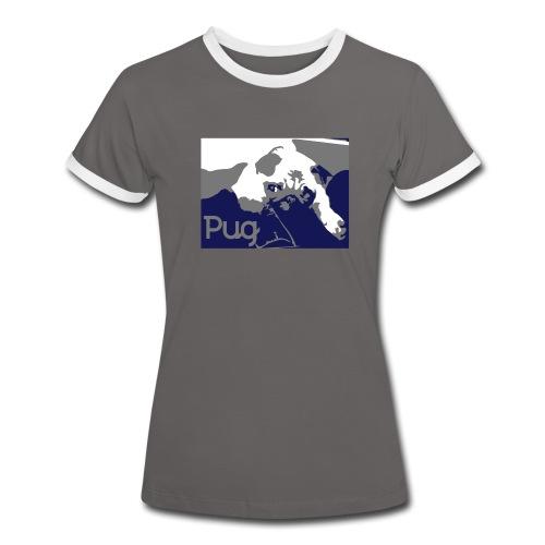 Cute Pug T Shirt  - Women's Ringer T-Shirt