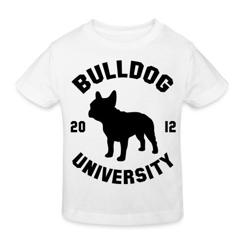 T shirt enfant imprimé Bulldog University ( noir ) - T-shirt bio Enfant