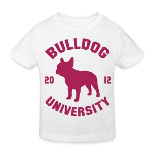 Tshirt Bulldog University. ( rouge bordeaux ) - T-shirt bio Enfant