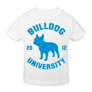 Tshirt Bulldog University. ( bleu clair ) - T-shirt bio Enfant
