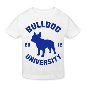 Tshirt Bulldog University. ( bleu ) - T-shirt bio Enfant