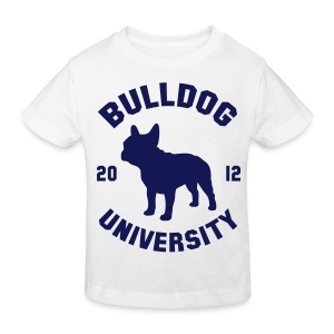Tshirt Bulldog University. ( navy ) - T-shirt bio Enfant