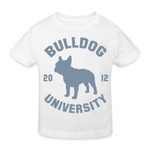 Tshirt Bulldog University. ( argent ) - T-shirt bio Enfant