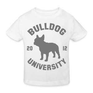 Tshirt Bulldog University. ( gris ) - T-shirt bio Enfant