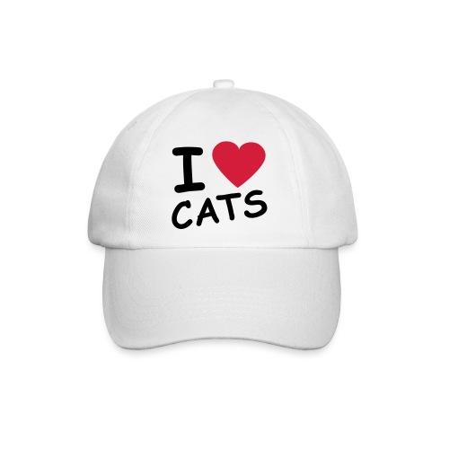 Casquette imprimée I Love Cats - Casquette classique