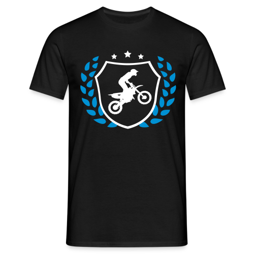 MX shield (bleu/blanc) - T-shirt Homme