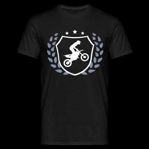 MX shield (argent/blanc) - T-shirt Homme