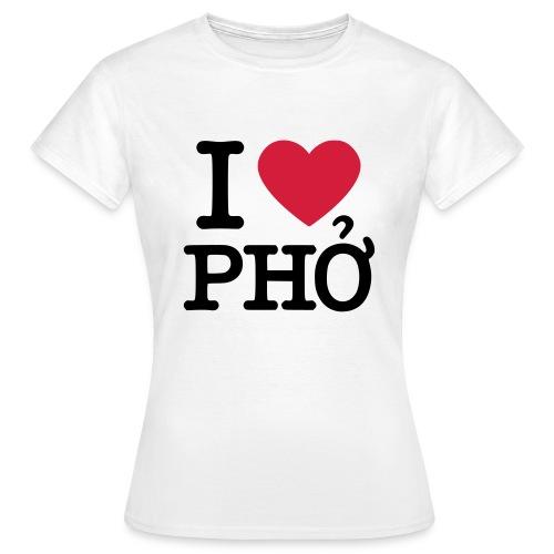 I love Pho Girliesshirt - Frauen T-Shirt