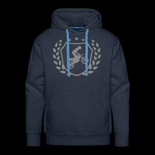 MX shield (argent paillette) - Sweat-shirt à capuche Premium pour hommes