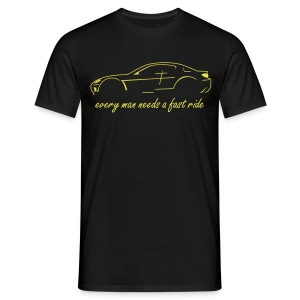 RX-8 black/yellow - Männer T-Shirt