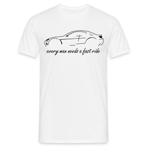 RX-8 white/black - Männer T-Shirt