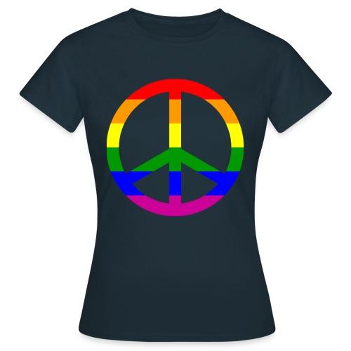 GAY PEACE shirt - Frauen T-Shirt