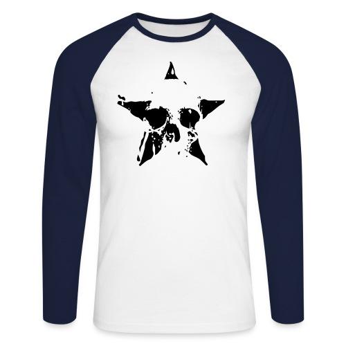 tee-shirt Baseball manche longue death star - T-shirt baseball manches longues Homme