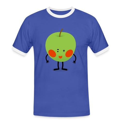 Apple Boy - Männer Kontrast-T-Shirt
