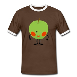 Apple Boy - Männer Kontrast-T-Shirt