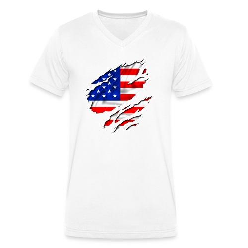 states - T-shirt bio col V Stanley & Stella Homme