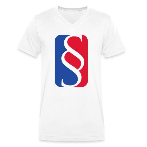 Law League V-Shirt BigLogo - Männer Bio-T-Shirt mit V-Ausschnitt von Stanley & Stella