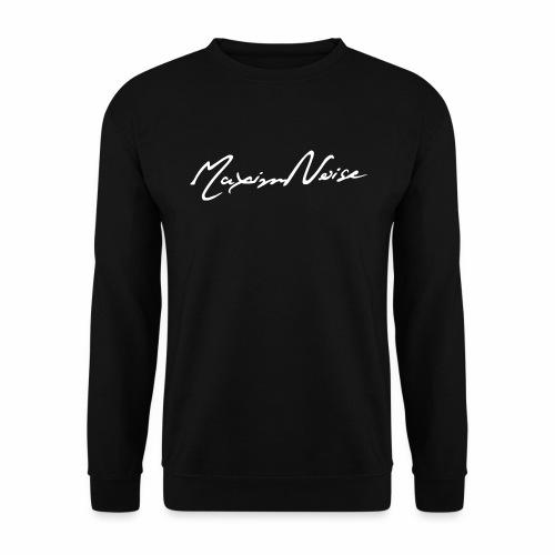 MaximNoise-MännerPullover (weisse Schrift) - Männer Pullover
