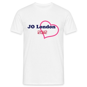 t-shirt JO 2012 London ( coeur rose ) - T-shirt Homme