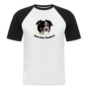 tier hunde t-shirt australian shepherd aussie hund hüte hüten border collie agility - Männer Baseball-T-Shirt