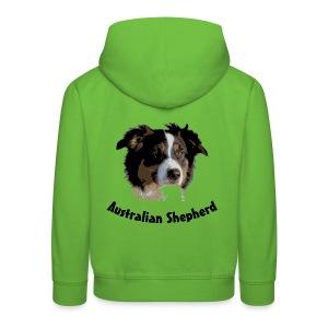 tier hunde t-shirt australian shepherd aussie hund hüte hüten border collie agility - Kinder Premium Hoodie