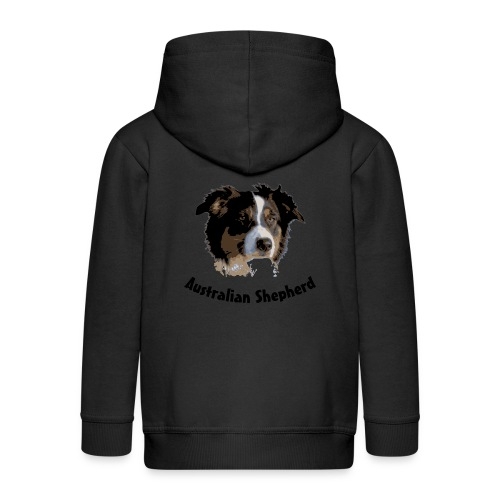 tier hunde t-shirt australian shepherd aussie hund hüte hüten border collie agility - Kinder Premium Kapuzenjacke
