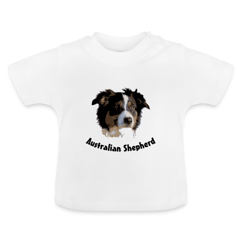 tier hunde t-shirt australian shepherd aussie hund hüte hüten border collie agility - Baby T-Shirt