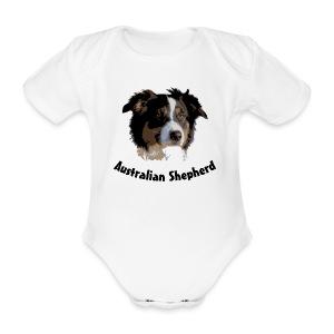 tier hunde t-shirt australian shepherd aussie hund hüte hüten border collie agility - Baby Bio-Kurzarm-Body
