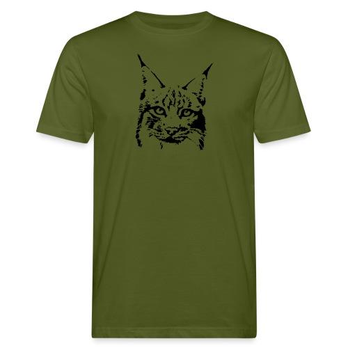 tier t-shirt luchs lynx cougar wild cat katze raubtier löwe tiger wolf - Männer Bio-T-Shirt