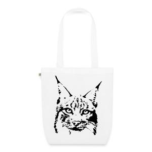 tier t-shirt luchs lynx cougar wild cat katze raubtier löwe tiger wolf - Bio-Stoffbeutel