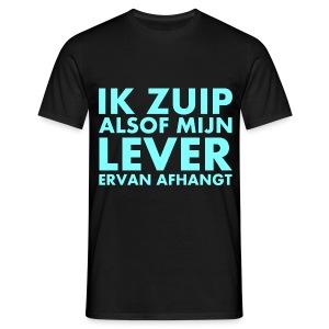 Funny shirt Ik zuip alsof mijn lever ervan afhangt - Mannen T-shirt