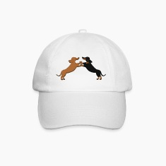 dog dancing teckel pixel Caps & Hats