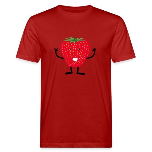 Erdbeerchen T-Shirt - Männer Bio-T-Shirt