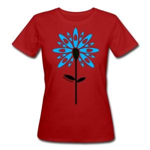 T-shirt kayak fleur pagaie Femme - T-shirt bio Femme