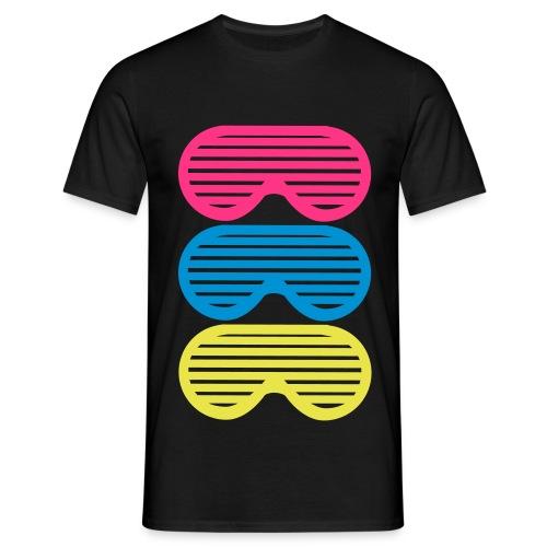 Shutter Shades 3X Black Miehille - Miesten t-paita